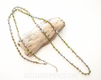 Green Natural Beaded Necklace