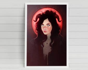 BLOOD MOON signed poster -11x17