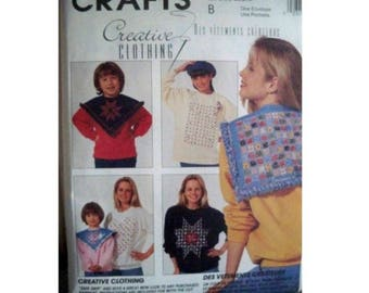 McCall's 6722 Craft Pattern - Cut Away and Ragging - Collars and Sweatshirts
