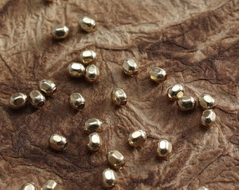 Gold Filled Spacer Beads Faceted Square 2.5mm - Select Pack Size