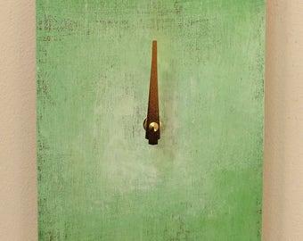 Green Clock, Modern Wall Clock, Handmade Clock, Home Decor, Original Clock, Wood Wall Clock