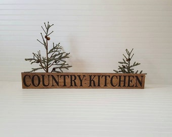 Country Kitchen sign, Reclaimed wood sign, Rustic kitchen sign, Hand Painted wood sign, Country decor, Rustic sign, Farmhouse decor.