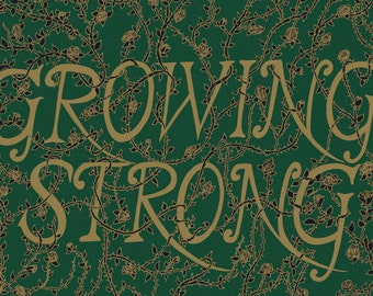 Growing Strong- Game of Thrones-inspired House Tyrell A4 art print- golden roses- FREE WORLDWIDE SHIPPING