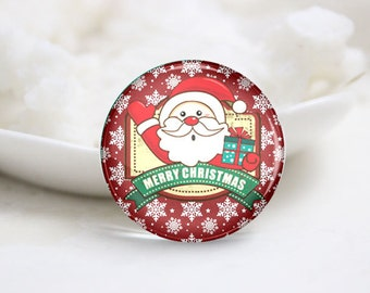 10mm 12mm 14mm 16mm 18mm 20mm 25mm 30mm Handmade Round Photo Glass Cabs Cover-Christmas (P2111)