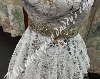 Custom Made in the USA CAMO Lace Wedding Prom Dress 'Grace'