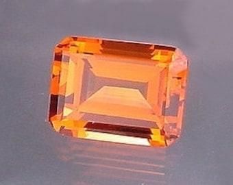 20x15 madeira color quartz emerald cut gem stone gemstone