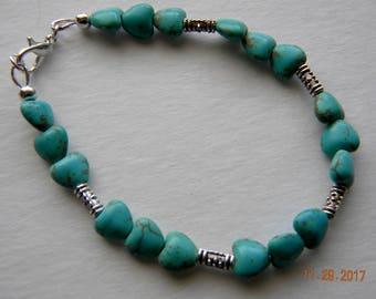 Turquoise beaded jewelry.Bracelet.Southwest jewelry.Western bracelet.Cowgirl jewelry.Cowgirl bracelet.Bojo jewelry.Bojo bracelet.