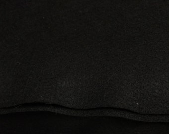 """Acrylic Felt Fabric / 72"""" Wide / Sold by the Yard, color black"""