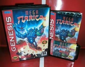 Mega Turrican - Sega genesis repro comes with box and manual