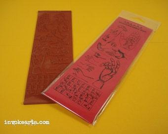 Hands / Invoke Arts Collage Rubber Stamps / Unmounted Stamp Set