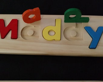 Child's Personalized Raised Letter Puzzle