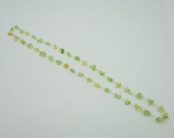 Lemon Quartz & Prehnite Summer Necklace