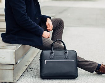 HENRY WIMAN leather briefcase bag for the professional modern man