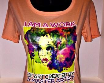 "African American T-Shirt ""Work of Art"" by SoulSeed Tees"