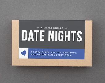 "Couples Gift Box, Basket Stuffer. Anniversary, Wedding, Bridal Shower. Romantic, Creative, Unique, Romantic, Fun. ""Date Nights Box"" (L5DAT)"