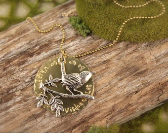 Beatles Bird Inspired Whisper Words of Wisdom Long Necklace