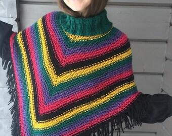Poncho SINTRA pdf knitting pattern