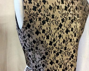 Italian black & gold brocade vest and pants from 1960's