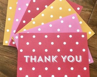 Thank You-Polka Dot-Blank Inside-Multicolored