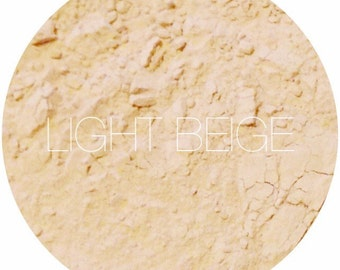 Light Beige Mineral Foundation •  Mineral Makeup • Natural Vegan Makeup • Earth Mineral Cosmetics