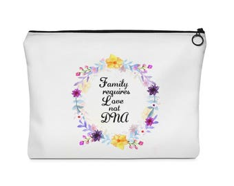 ADOPTION - GIFT - Referral - Travel Pouch  Makeup Bag  Accessory Pouch