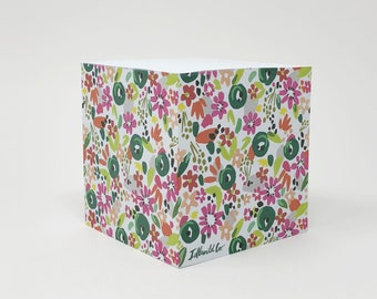 Confetti Floral Sticky Note Cube (650 pages)
