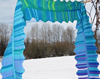 Climate Change Scarf Knitting Paattern