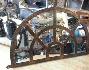 French Country Iron Overdoor Mirror
