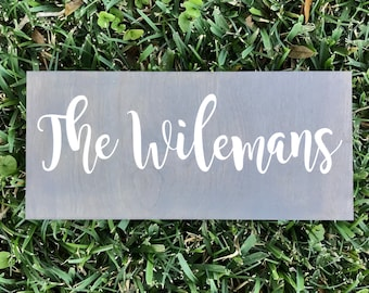 Last Name Wedding Sign- Personalized & Wooden