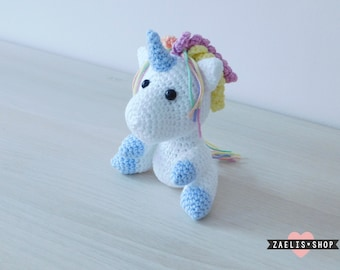 Unicorn choice of colors Rainbow Mane Amigurumi Magic Plush Toy - On order