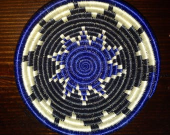 Beautiful Blue/Green/white small African Baskets/Fruit Baskets***free shipping