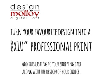 "8x10"" Professional Print Service"