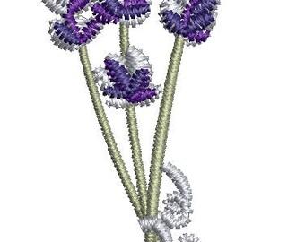 petite bouquet of lavender  Machine Embroidery Design