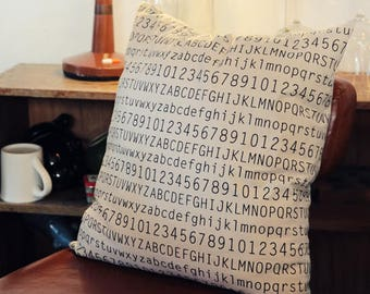 Alphabet pillow cover, number pillow case