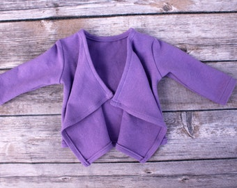 SAMPLE SALE - Fits like American Girl Doll Clothes - Cascade Cardigan in Lilac | 18 Inch Doll Clothes RTS