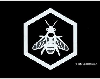 Aufkleber von Imker Decal - Car Window Decal - Honig Biene Aufkleber - Autoaufkleber - Imker - lieben wir Bienen