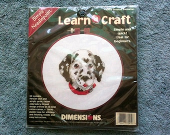 Learn A Craft Needlepoint Kit Devoted Dalmatian Dimensions Simple Needlepoint Kids Needlepoint Childs Needlepoint Beginners Needlepoint PZL5