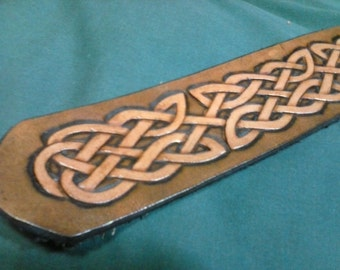 Celtic Border Knot Guitar Strap (2 inches)
