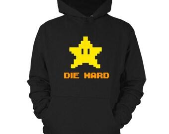 Die Hard Hoodie Nintendo Sweater Invincibility Mario Bros Shirt