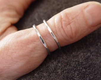 Sterling Silver Thumb Ring / Silver Spiral Ring