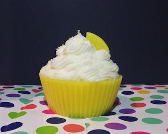Jumbo Pineapple Cupcake Candle