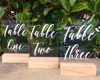 Acrylic Table Numbers | Table Numbers | Wedding table numbers | wedding sign | wedding signage | Acrylic Sign | Perspex Sign |