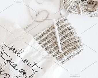 Styled Stock Photo   Yarn Bag   Blog stock photo, stock image, stock photography, blog photography