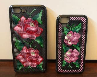 iPhone Case - Pink Twin Rose by Maria Maria