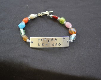 "Beaded Bracelet ""Let go and Let God"""