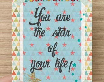 Postcard The star of your life
