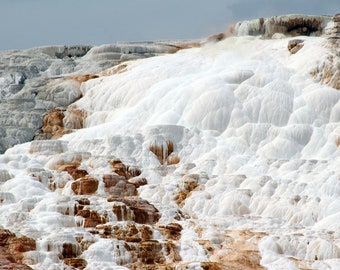 Mineral Terraces at Mammoth Hot Springs in Yellowstone National Park