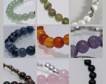 Gemstone Bead Bracelet - Made to order, crystal healing, healing, personalised, custom, bracelet