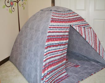 Kids play tent, Childs room decor, Stars and Stripes Tent, Patriotic kids tent