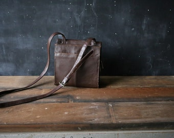 Leather Crossbody Purse and Organizer Keep life and Work In Order Made by Clark  Vintage From Nowvintage on Etsy